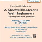 Plakat 2. Stadtteilkonferenz Wehringhausen