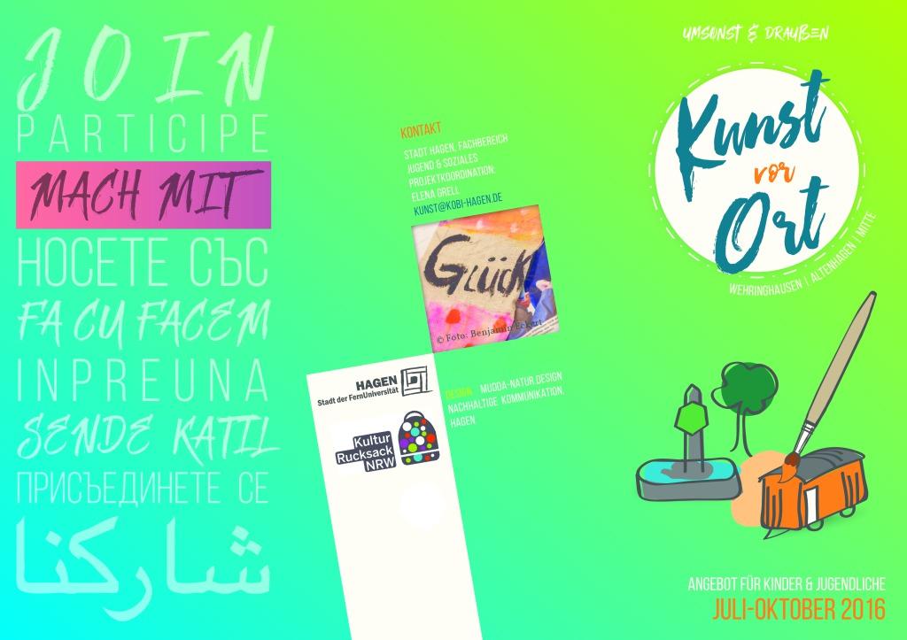 thumbnail of Flyer Kunst vor Ort